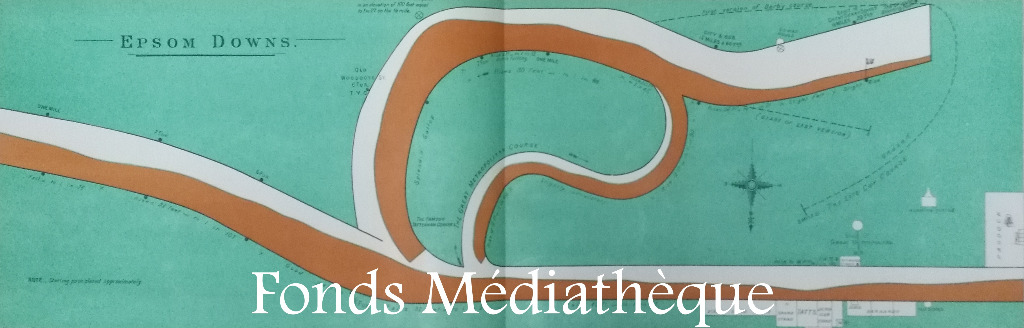 Fonds cheval médiathèque, The Race Courses Atlas of Great Britain & Ireland, K.13 RAC